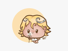 Little Goddess (Ephraim Fowler) Tags: ephraimfowler fade fadeart illustration cute kawaii drawing art fiverr