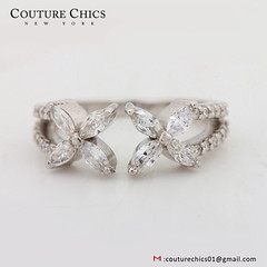 Natural Marquise Shape Diamond Pave Cuff Ring Solid 18k White Gold Handmade Fashion Jewelry (couturechics.facebook1) Tags: natural marquise shape diamond pave cuff ring solid 18k white gold handmade fashion jewelry
