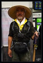5ème jour / 5th day - Pèlerin / Pilgrim - Gare de Kyoto / Kyoto station (christian_lemale) Tags: gare station kyoto japon nikon d7100 personne somebody homme man pèlerin pilgrim