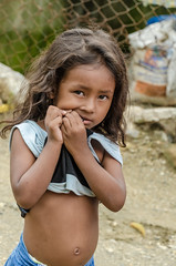 I get hungry when I'm nervous (Pejasar) Tags: girl child chew clothes nervous street candid seisdemayo honduras