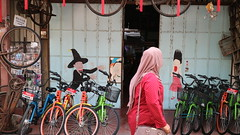 George Town, Penang, Malaysia (Joshua Khaw) Tags: street art people walking penang george town malaysia frame bike bicycle cycle