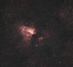Omega Nebula (RASA 8) (AstroBackyard) Tags: m17 swan nebula omega deep sky astrophotography rasa celestron 8 f2 pegasus astro focuscube optolong lenhance asi294mc pro zwo osc color oneshotcolor