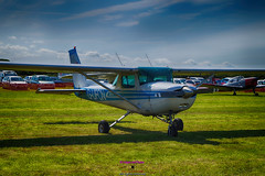 G-UFCN Cessna 150/152 at Newtownards airport (Photographs and Images of Northern Ireland) Tags: gufcn piper colt eiezx flights heli power helicopter ards newtownards airport portaferry rd display children rides trips aeroplanes planes aircraft kitefox gyro copter flying training courses cessna