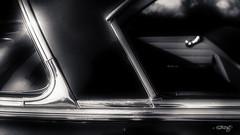 '54 Chevy Bel Air_Window (dougkuony) Tags: belair coffeecruise hdr auto automobile automotive bw blackandwhite car chevrolet chevy green mono monochrome olivegreen