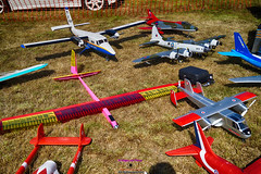 Model aircraft at Newtownards airport (Photographs and Images of Northern Ireland) Tags: piper colt eiezx flights heli power helicopter ards newtownards airport portaferry rd display children rides trips aeroplanes planes aircraft kitefox gyro copter flying training courses cessna