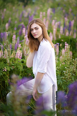 Lisa (alvytsk) Tags: girl outdoor portrait posing flowers beauty cute young