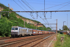 481777-Perrigny->Sibelin à Couzon (AziroxY) Tags: trains trainspotting train photo photographie plm photosncf grise bb26000 couzon roche falaise 1500v fret fretsncf france sncf