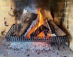 fireplace (francois f swanepoel) Tags: heat burn fire logs fireplace comfort winter