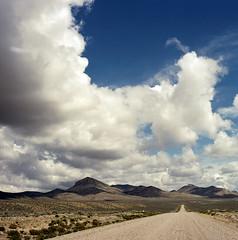 nevada road (lawatt) Tags: mountain sagebrush clouds sky landscape humboldtrange nevada film 120 portra400 hasselblad 80mm
