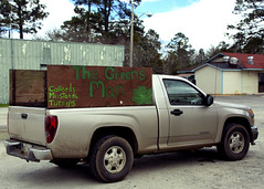 The Greens Man's Truck (Mike McCall) Tags: copyright2019mikemccall photography photo image usa culture southern america thesouth unitedstates northamerica south georgia georgiahighway37 sr37 ga37 gahwy37 hwy37 highway 37 roadtrip journey road trip project theme history heritage tradition cook county adel food cooking soulfood cuisine country produce greens collards turnips mustard vegetables truck