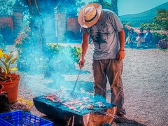 all the meat on the grill (ricardjb) Tags: barbecue smoke meat grill cook chef