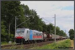 DBC 186 493, Hüthum (07-07-2019) (Teun Lukassen) Tags: dbc br186 ejbdbc hüthum treinen trains züge