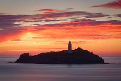Last Light over Godrevy (Timothy Gilbert) Tags: godrevyheritagecoast lighthouse gwithian coast longexposure sunset godrevy m43 microfourthirds lumix lovecornwall panasonic olympus45mmf18 gx8 microfournerds cornwall