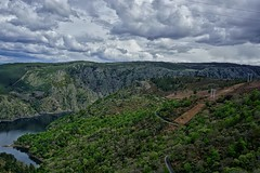 Santo Estevo, Cañóns do Sil- Sil river canyon (Jano_Calvo) Tags: dam sil river water bank ourense lugo galicia landscape nature forest road roadtrip green clouds rural perspective mirrorless sony a6000 ilce alpha 1650mm