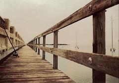 Dead Calm (ACEZandEIGHTZ) Tags: indiankeybridge floridakeys woodencatwalk fishingrod dusk sunset sky white calmwaters