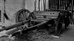 Off we went to Erddig Hall. (Maria .... on here to learn and be inspired.) Tags: cart waggon history old vintage mono wood blackandwhite wheel wheels