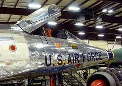 """North American F-100A Super Sabre 6 • <a style=""""font-size:0.8em;"""" href=""""http://www.flickr.com/photos/81723459@N04/48233045421/"""" target=""""_blank"""">View on Flickr</a>"""