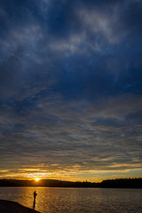Fishing at Sunset July 2019 (kckelleher11) Tags: 1240mm 2019 ireland july olympus em1 mzuiko skpc trip wicklow sunset sky fishing