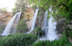 Triple Treat (Patricia Henschen) Tags: rifle colorado riflefalls statepark coloradoparkswildlife waterfall spring westernslope mountains mountain triple 70 park pathscaminhos waterfalls eastriflecreek creek travertine