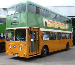 Glasgow's first Leyland Atlantean. (calderwoodroy) Tags: scotland glasgow bridgeton glasgowvintagevehicletrust bridgetonbusgarage glasgowcorporationtransport bus doubledecker 1958 la1 fys998 leylandatlantean glasgowmuseums