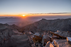 Glorious orange hue everywhere (ScorpioOnSUP) Tags: a7iii bealpha deathvalley easternsierra hitchcocklakes inyonationalforest jmt jmt2018 johnmuirtrail lonepine lonepinepeak mtwhitney owensvalley sierranevada sonyalpha abovetimberline adventure backcountry clouds geology landscape landscapephotography mountains nature outdoors rockformation sunrise sunriseglow thruhike wilderness