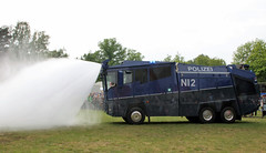 Wide nozzle (Schwanzus_Longus) Tags: delmenhorst german germany modern vehicle truck lorry riot control law enforcement police polizei mercedes benz actros