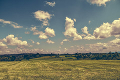 Campos (Xavier Larrosa) Tags: verde cielo clouds nubes campo field fields green galicia