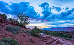After Sunset (KPortin) Tags: hbm bench clouds sunset capitolreefnationalpark