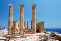 Acropolis of Lindos (RafalZych) Tags: rodos rhodes rhodos acropolis akropol lindos island ancient greek greece fuji fujifilm xt100 columns column blue sky wide