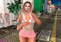 We Love Donuts! (alexandra sunny) Tags: adorsy phoenix it labellaboutique catwa maitreya aviglam unik secondlife blog blogger fashion female landscape pink puppy