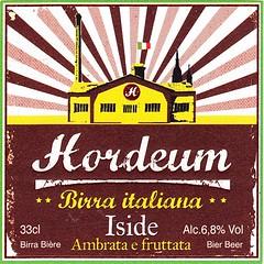 Italy - Hordeum (Novara) (cigpack.at) Tags: italy italien hordeum novara iside bier beer brauerei brewery label etikett bierflasche bieretikett flaschenetikett