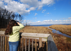 WE Winter Visit (vastateparksstaff) Tags: winter birdwatching viewingplatform fossilbeach potomac birding observationdeck binoculars