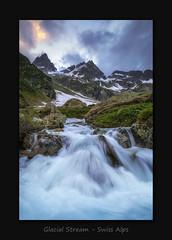 Glacial Stream (MC--80) Tags: glacial stream swiss alps