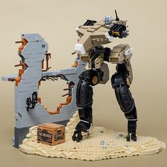 "Gekko (from ""Metal Gear Solid 4: Guns of the Patriots"") (SteppedOnABrick) Tags: metal gear solid hideo kojima gekko snake mkii games moc afol lego"
