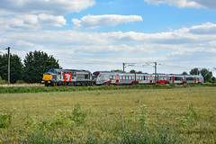 37608 + 755407 - Waterbeach - 03/07/19. (TRphotography04) Tags: rail operations groups rog 37608 andromeda drags greater anglia stadler flirt bimode 755407 past bannold road waterbeach working 5q62 1520 cambridge trsmd norwich cpt ecs move