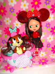 Rosie & Fifi (teekeek) Tags: rosieredblythedoll blythe blblythe fifi disney minniespuppy