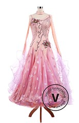 Pink Peonies Standard Ballroom Tango Waltz Smooth Competition Dance Dress (Venus Dancewear) Tags: ballroomdress ballroomdancedress latindress dancewear ballroom competition dress venus dresses lace dance