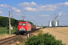 MEG 801 (Zugbild) Tags: bahn zug rail eisenbahn train meg br156 br252 holleben sluskil kraftwerk buna mitteldeutsche halle saale güterzug