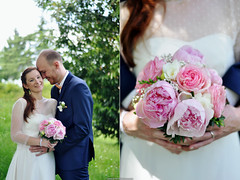 Anne-Cécile & Jérôme / 27.05.2017 (camille.t) Tags: wedding mariage couple love amour dyptich bride wife husband bouquet flower nature