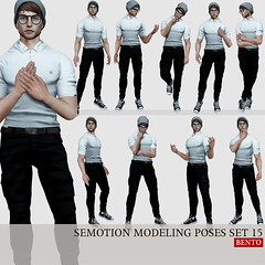 SEmotion Male Bento Modeling poses set 15 (Marie Sims) Tags: ao animations animation avatar anim animaitons animaions animated aohud animarions animesh event 3d expression emotion expressions emoji release rigged review trendy trend yummy unisex funny fun inworld girly pose poses posing photosl photographer photo ptoho props semotion sl secondlife slfashion stands slavatar second dj fashion fancy flirty guys hud hot mocap modeling model mesh bento blogger