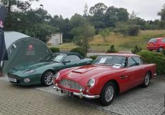 Aston-Martin DB7 V12 Volante (2002) & DB5 (1964) (andreboeni) Tags: aston astonmartin db7 v12 volante 2002 db5 superleggera 1964 sports roadster classic car automobile cars automobiles voitures autos automobili classique voiture rétro retro auto oldtimer klassik classica classico youngtimer