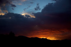 Stormy Sunset 01 (The Good Brat) Tags: colorado us sunset storm stormy sky skies blue red orange clouds