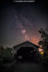 (C.H.Diegel Photography) Tags: milkyway cambridgevermont jeffersonvillevermont astrophotography vermont greenmountains greenmountainstate coveredbridge newengland