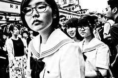 Asakusa Moment (Victor Borst) Tags: street real streetphotography streetlife reallife city trip travel girls urban blackandwhite bw woman travelling girl monochrome face japan lady asian japanese mono asia cityscape asians fuji faces candid citylife monotone fujifilm traveling asakusa urbanjungle realpeople urbanroots happyplanet asiafavorites