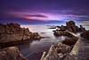 Purple dusk (David Martín López) Tags: walkway pasarela gerona sea mar seascape landscape paisaje longexposure largaexposicion nd gnd silk seda dusk anochecer clouds nubes mediterranean mediterraneo costabrava hitech rocks rocas stones piedras calacanyet davidmartinlopez