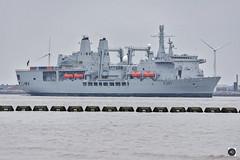 RFA Fort Victoria (alundisleyimages@gmail.com) Tags: royalfleetauxillary rfa royalnavy supplyvessel military naval warship supplies ship shipping maritime groyen turbines liverpool wallasey port rivermersey uk