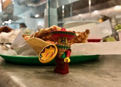 Tacos? (socalbricks) Tags: tacos collectible figure lego photography restaurant mexican sombrero pancho plate minifigure