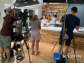 Bluefin TV filming a series of videos on healthy eating and nutrition for start-up company, 'Whole Health & Fitness'.