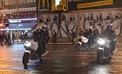 Police Paris - BRAV-M (Arthur Lombard) Tags: police policedepartment policecar policenationale paris nikon emergency bravm bike moto yamahatdm900 yamaha 112 17 911 999 night riot riotunit france