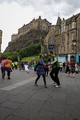 Edinburgh Swing Dance Society Grassmarket July 2019-7 (Philip Gillespie) Tags: edinburgh city urban swing dance society scotland grassmarket men women boys girls kids family friendly hands feet heads arms legs colour blue green red yellow castle outdoor outside canon 5dsr photography event workshops classes public lindy hop dresses hair faces shoes moving open spaces street pavement